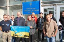 Акция участников АТО, под стенами Минсоца.