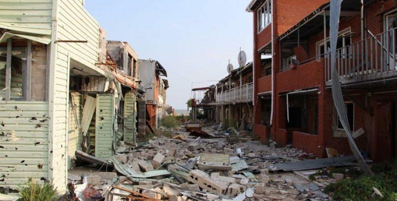 В ООС показали «останки» поселка Широкино под Мариуполем