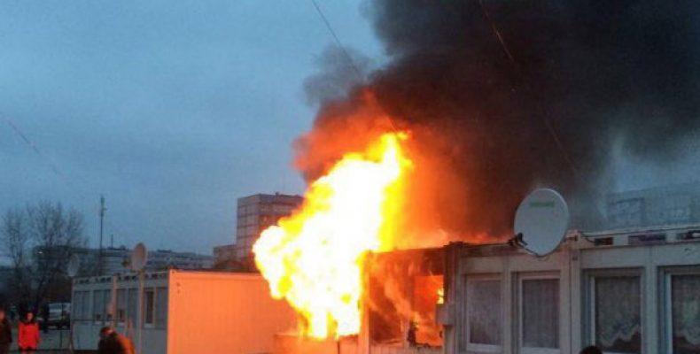 Во время пожара в городке для ВПЛ, погиб 2-летний ребенок.